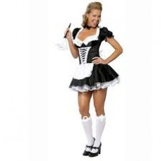 FRENCH MAID WHITE RIBBON FRONT