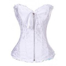 TAPESTRY RUFFLED CORSET WHITE